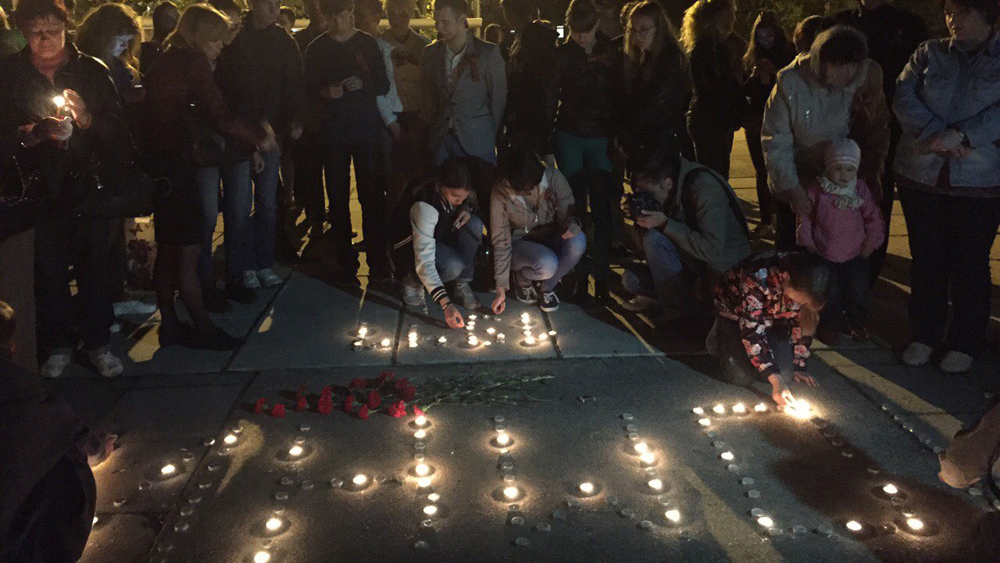 Накануне Победы зажгли свечи памяти